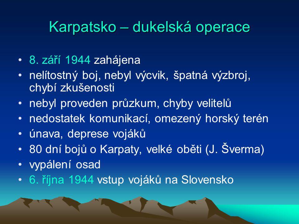 Karpatsko – dukelská operace