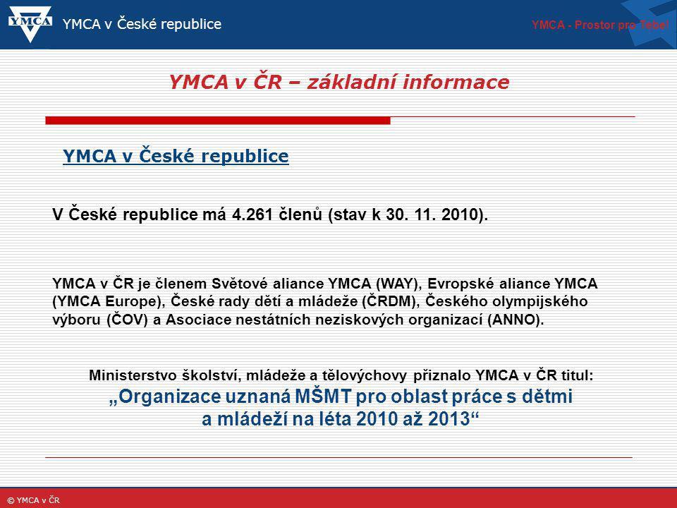 YMCA v ČR – základní informace