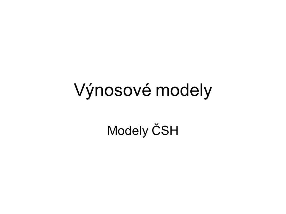 Výnosové modely Modely ČSH