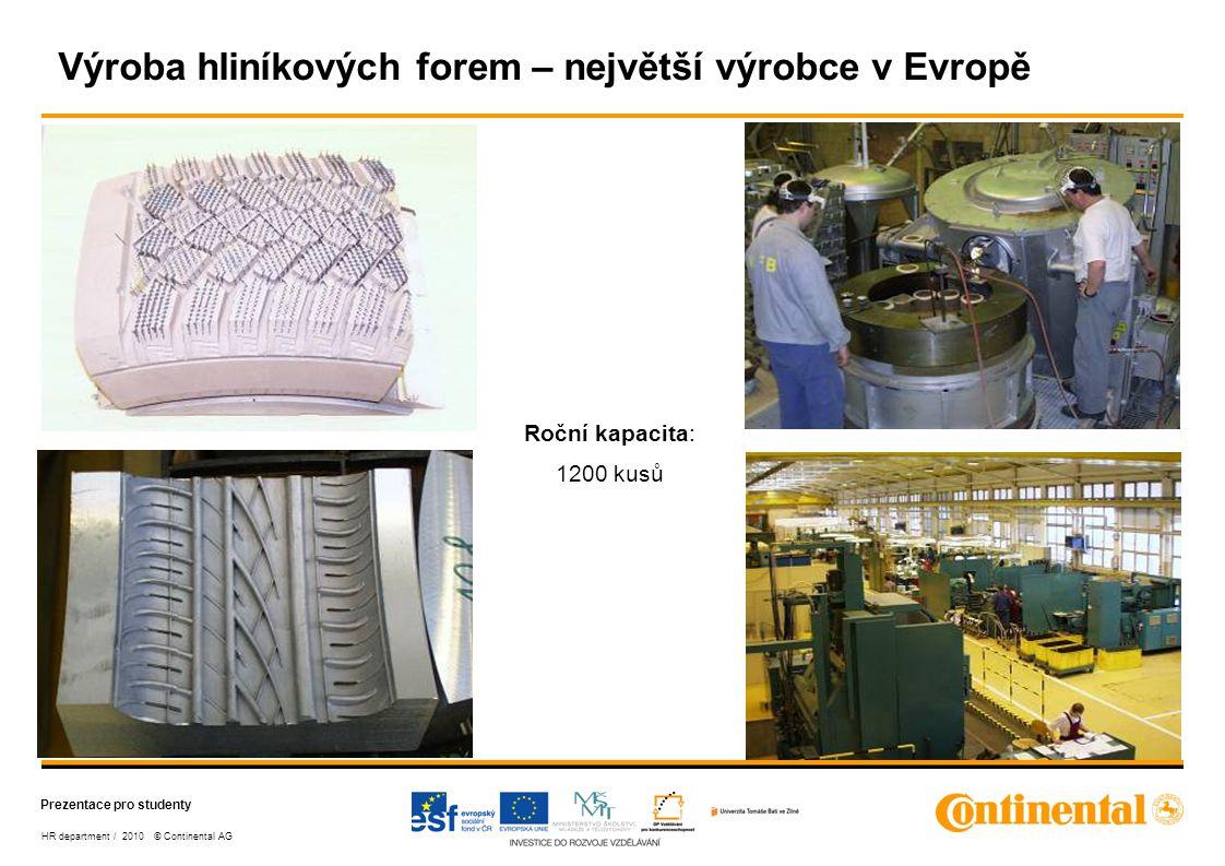 Výroba hliníkových forem – největší výrobce v Evropě