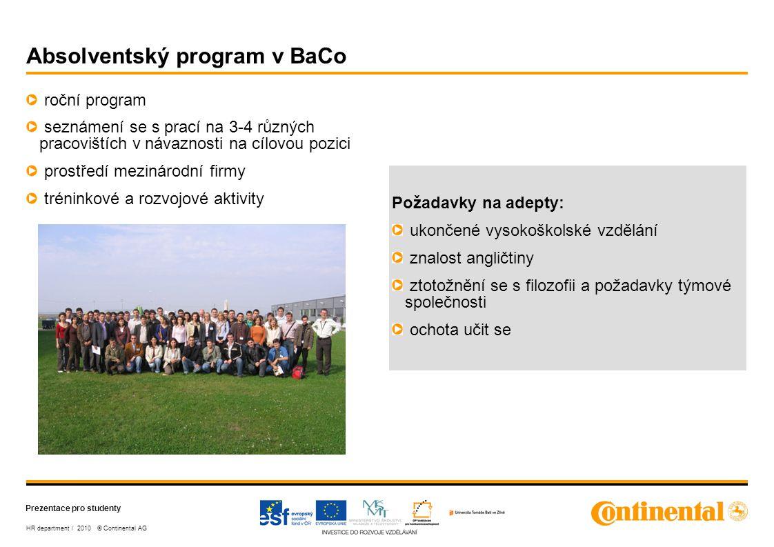 Absolventský program v BaCo