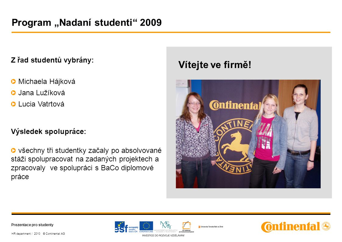 """Program """"Nadaní studenti 2009"""