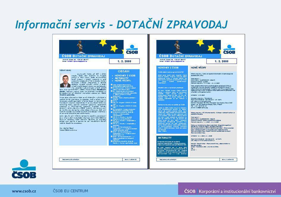 Informační servis - DOTAČNÍ ZPRAVODAJ