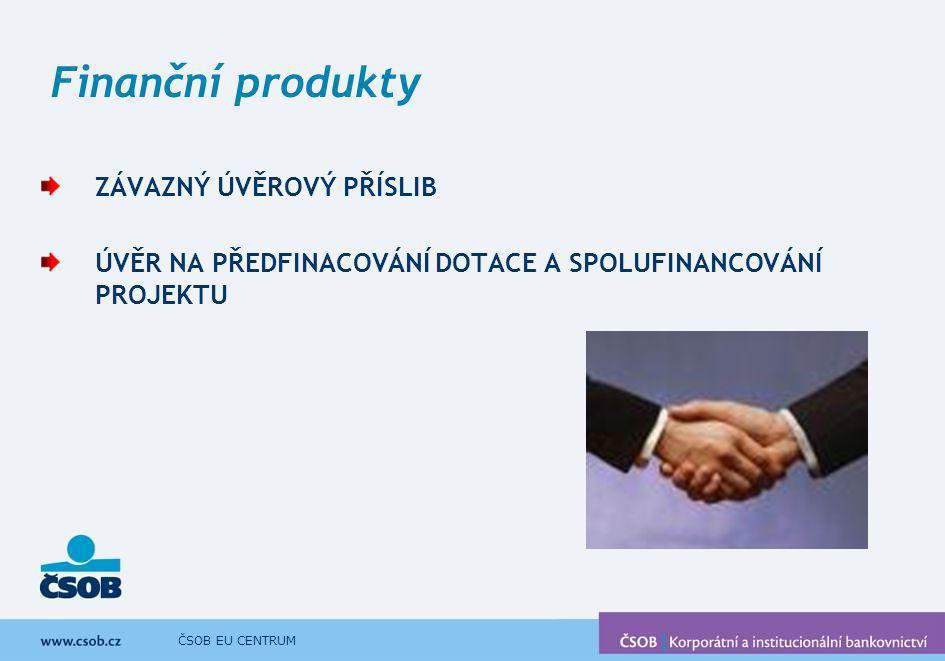 Finanční produkty ZÁVAZNÝ ÚVĚROVÝ PŘÍSLIB