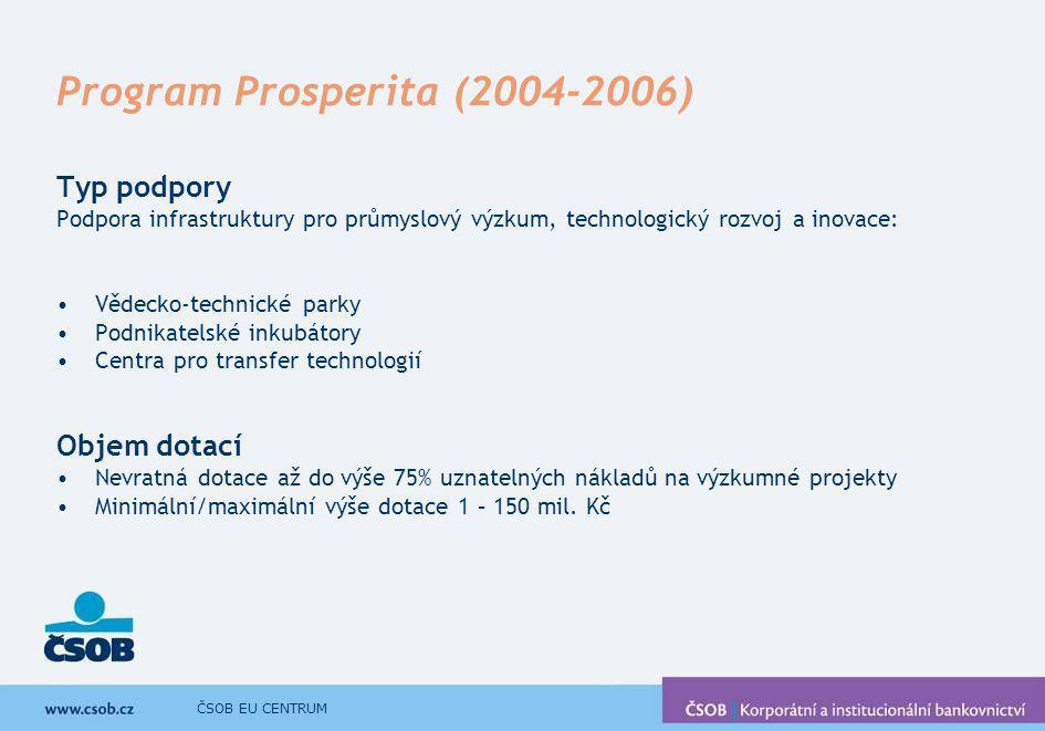 Program Prosperita (2004-2006)