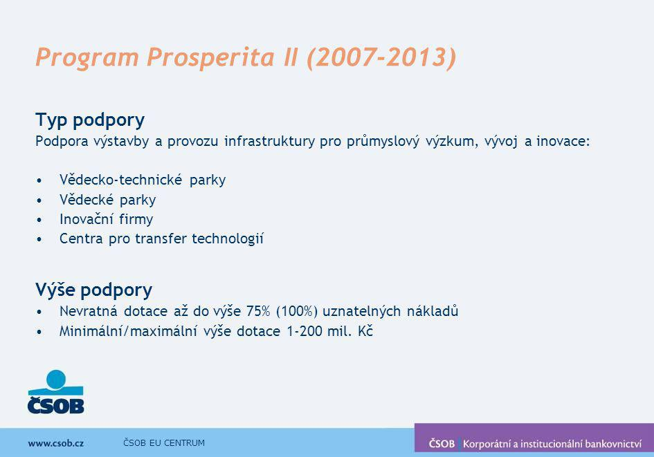 Program Prosperita II (2007-2013)