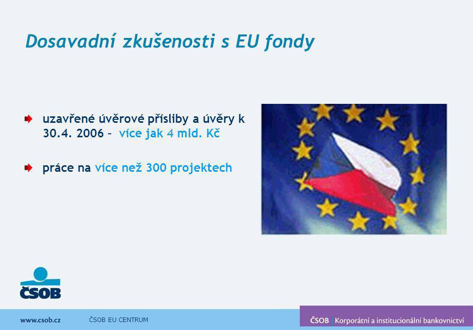 Dosavadní zkušenosti s EU fondy