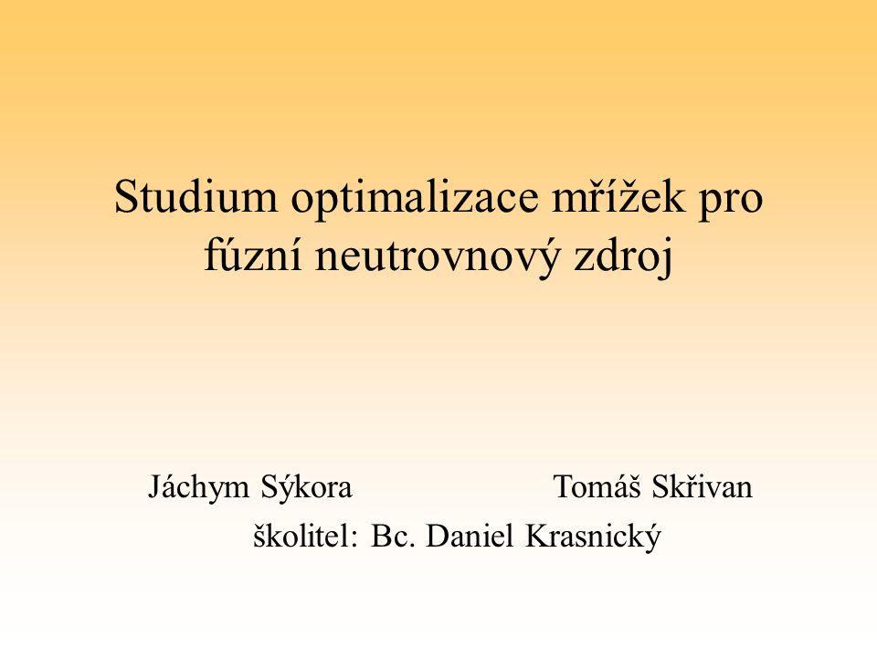 Studium optimalizace mřížek pro fúzní neutrovnový zdroj