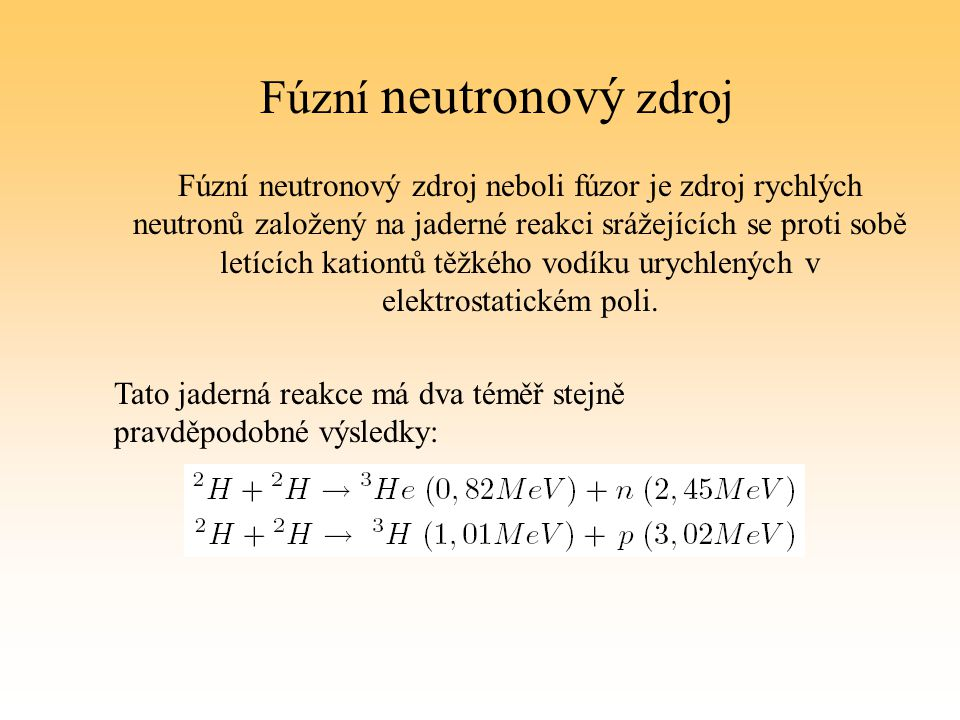 Fúzní neutronový zdroj