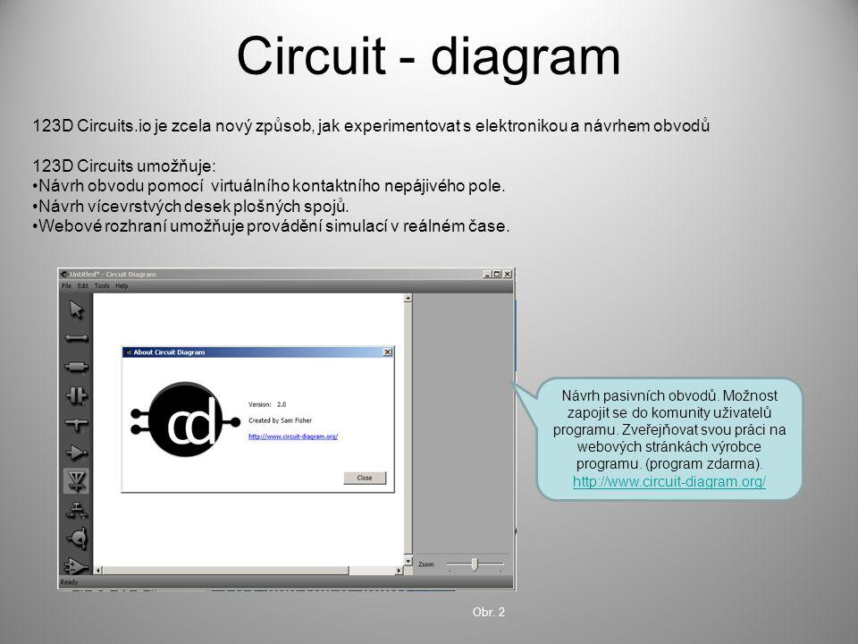 Circuit - diagram 123D Circuits.io je zcela nový způsob, jak experimentovat s elektronikou a návrhem obvodů.