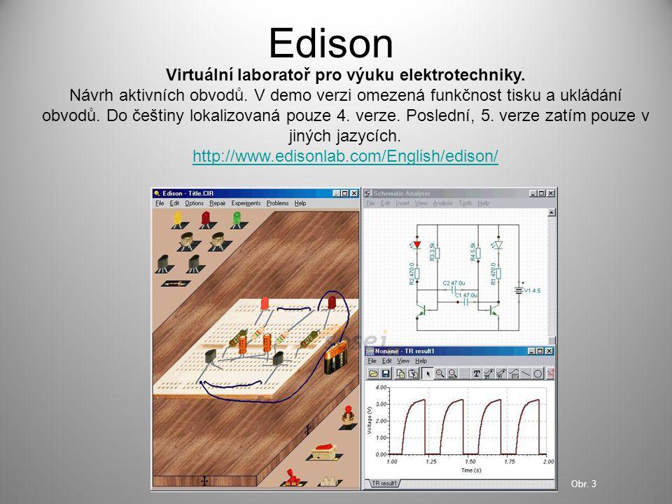 Virtuální laboratoř pro výuku elektrotechniky.