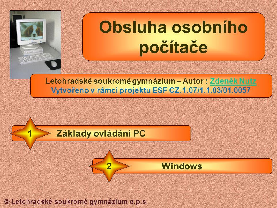 Obsluha osobního počítače