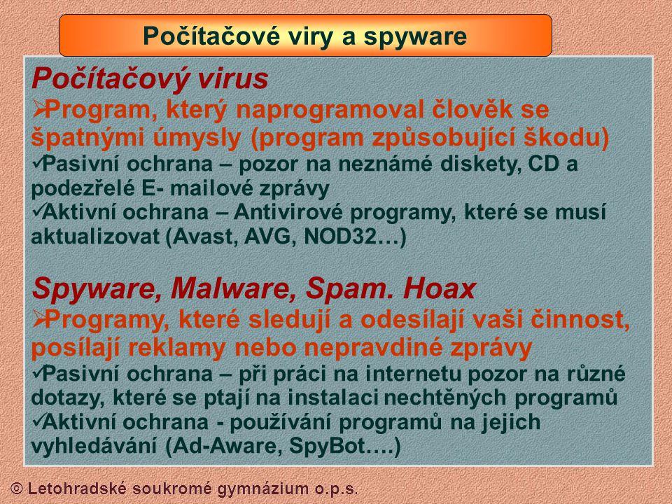 Počítačové viry a spyware