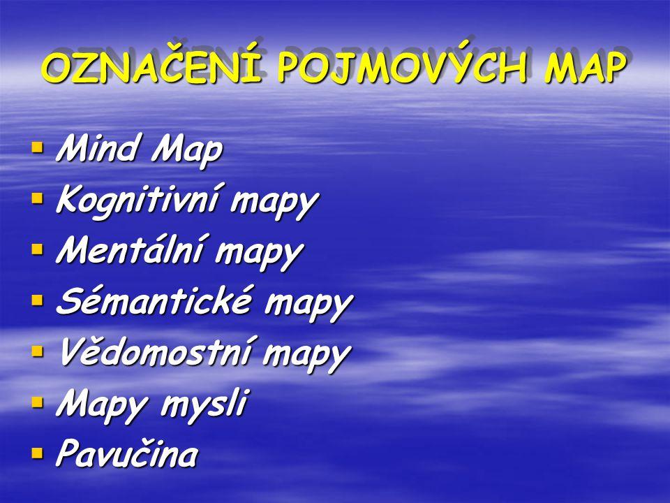 OZNAČENÍ POJMOVÝCH MAP