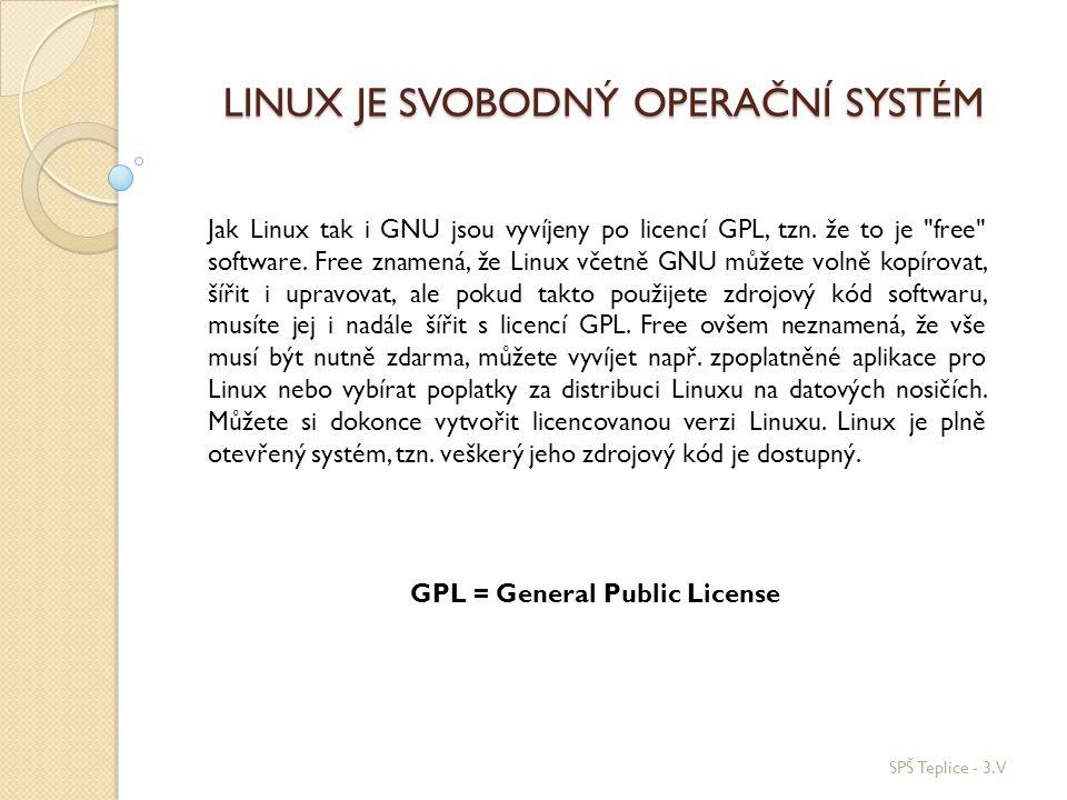 Linux je svobodný operační systém