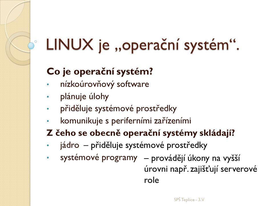"""LINUX je """"operační systém ."""