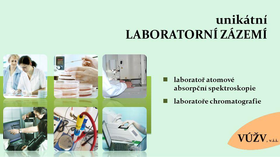unikátní LABORATORNÍ ZÁZEMÍ laboratoř atomové absorpční spektroskopie