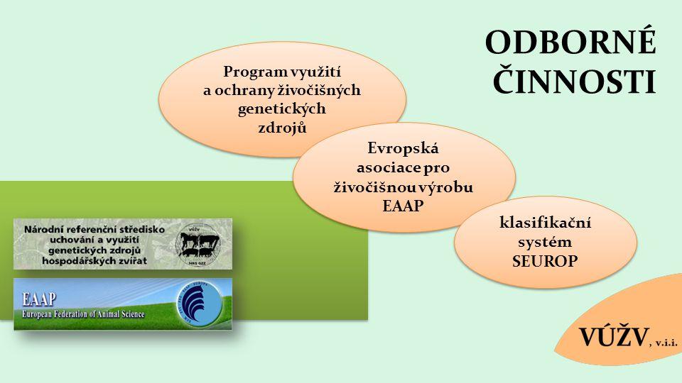 ODBORNÉ ČINNOSTI Evropská asociace pro živočišnou výrobu EAAP
