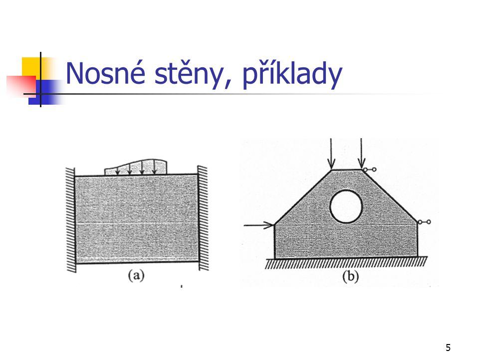 Nosné stěny, příklady