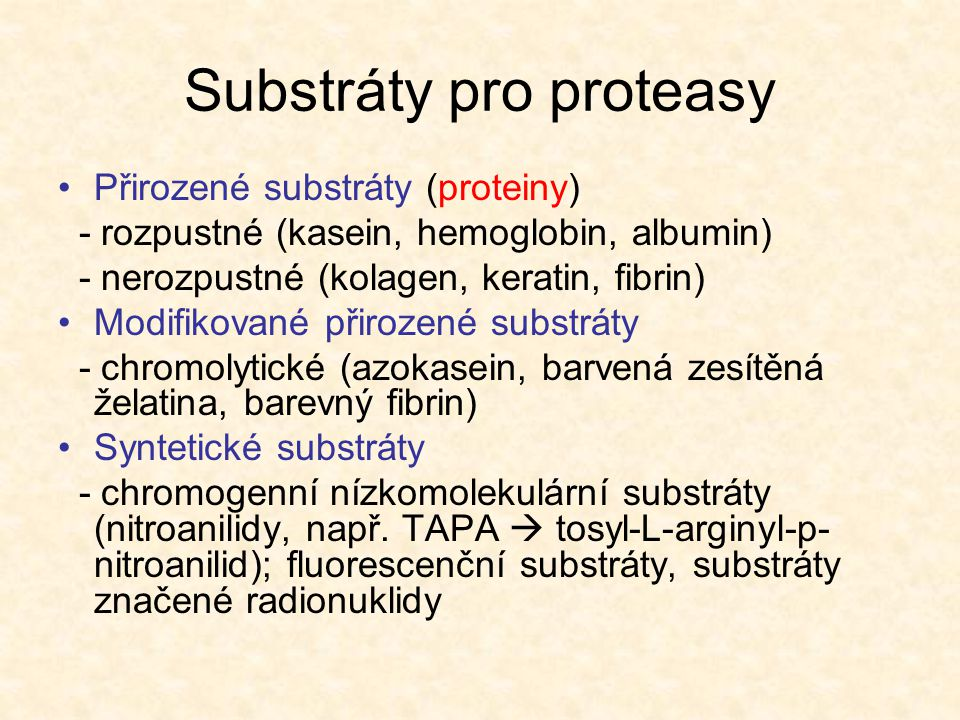 Substráty pro proteasy