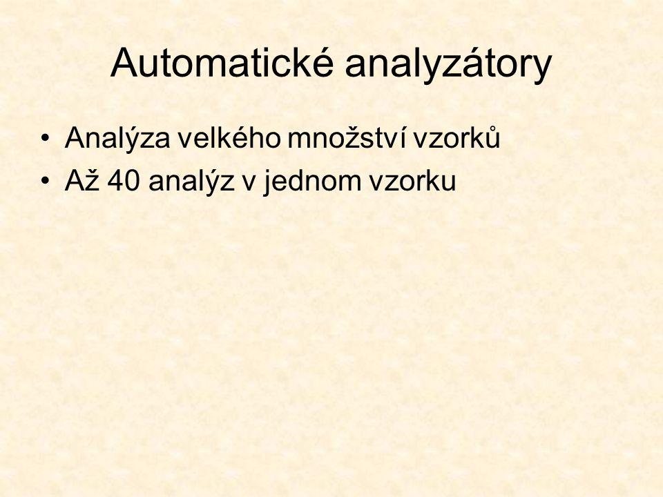 Automatické analyzátory