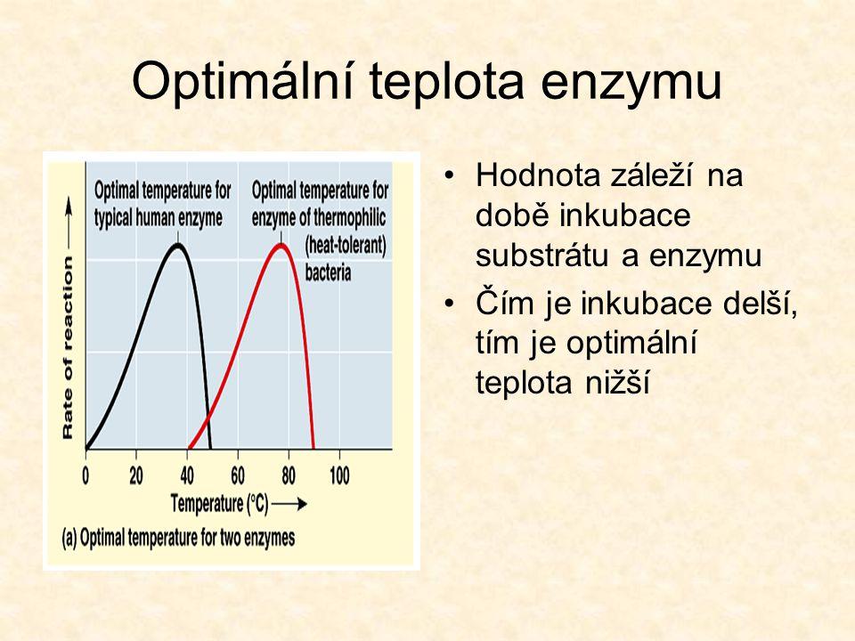 Optimální teplota enzymu