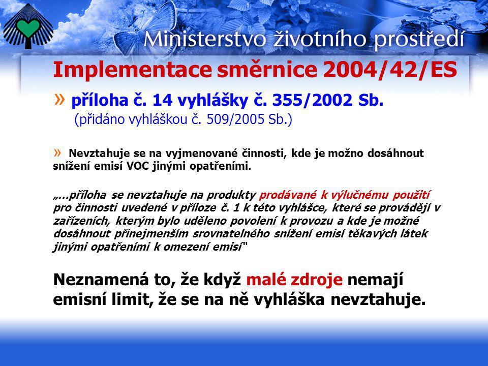 Implementace směrnice 2004/42/ES
