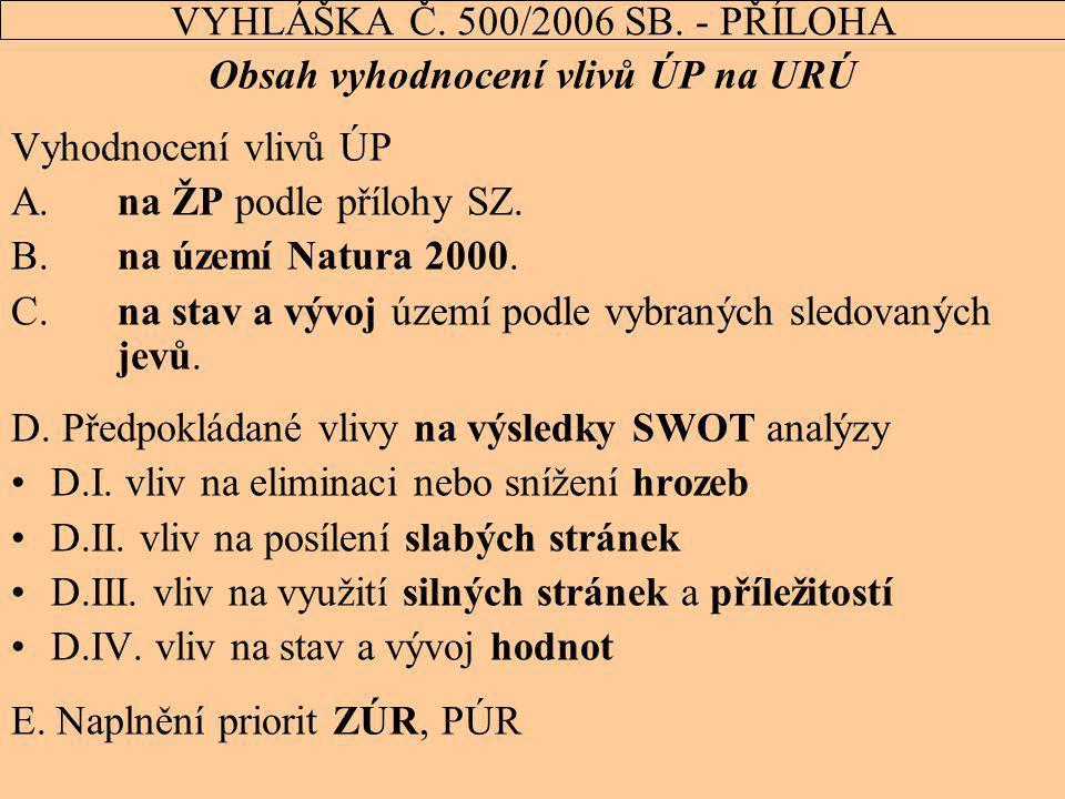 VYHLÁŠKA Č. 500/2006 SB. - PŘÍLOHA