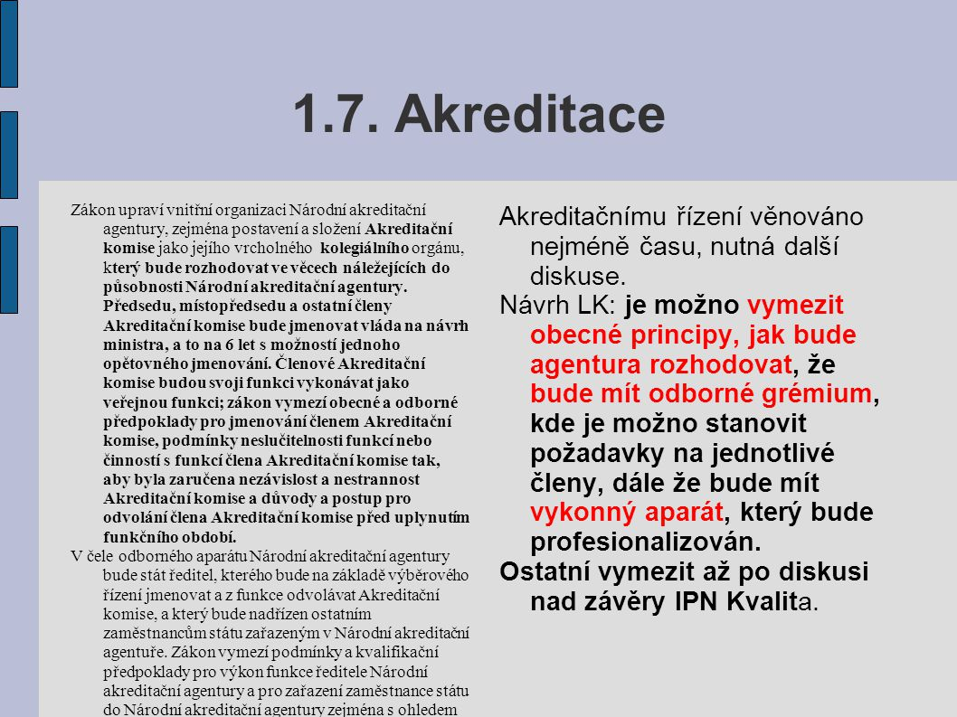 1.7. Akreditace