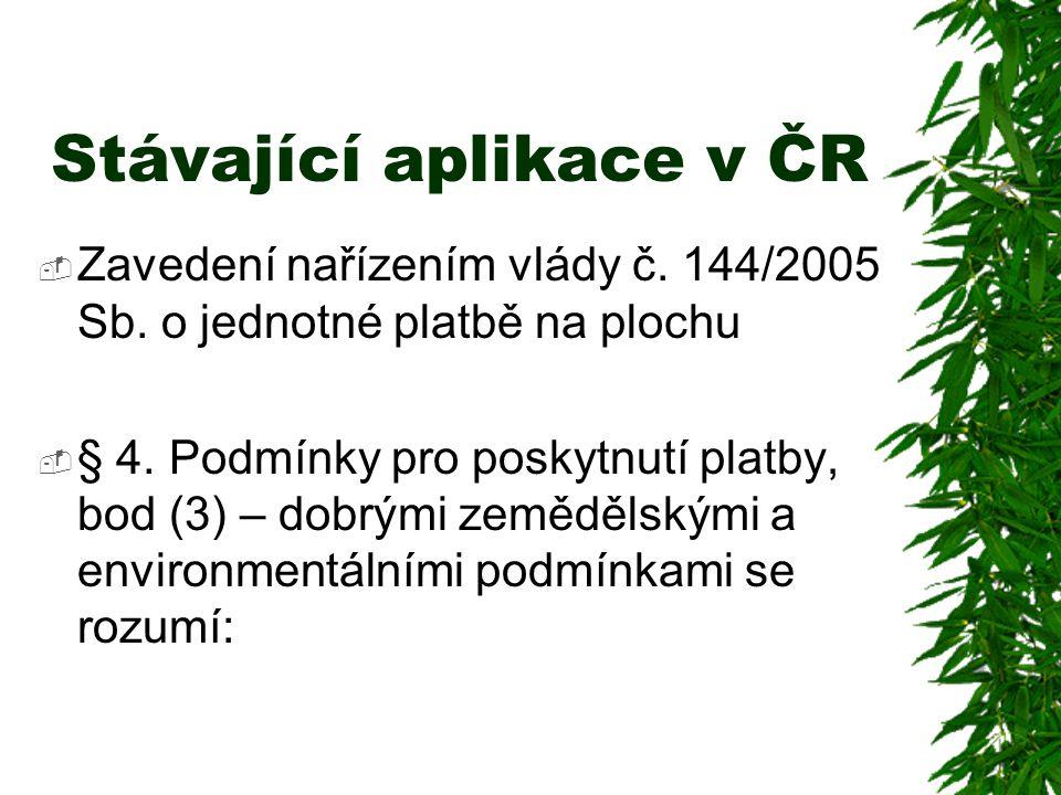 Stávající aplikace v ČR