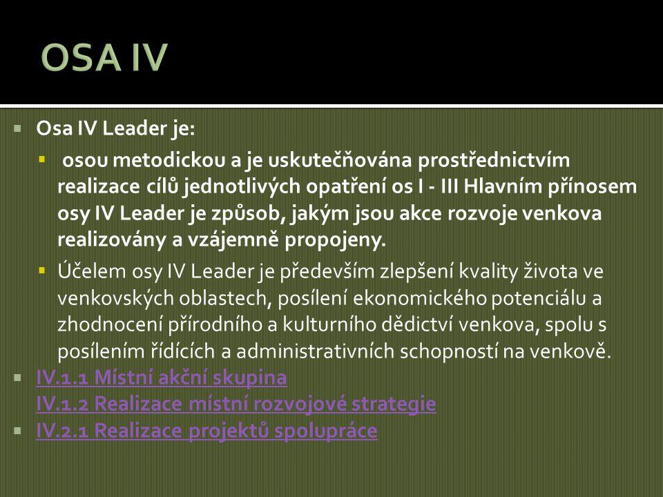 OSA IV Osa IV Leader je: