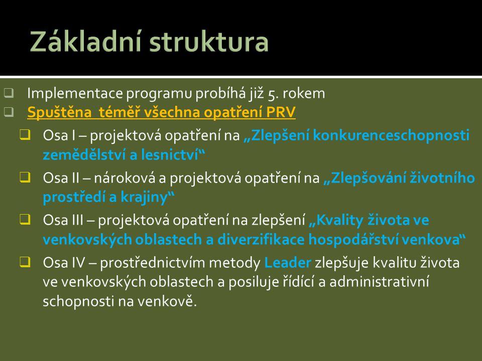 Základní struktura Implementace programu probíhá již 5. rokem