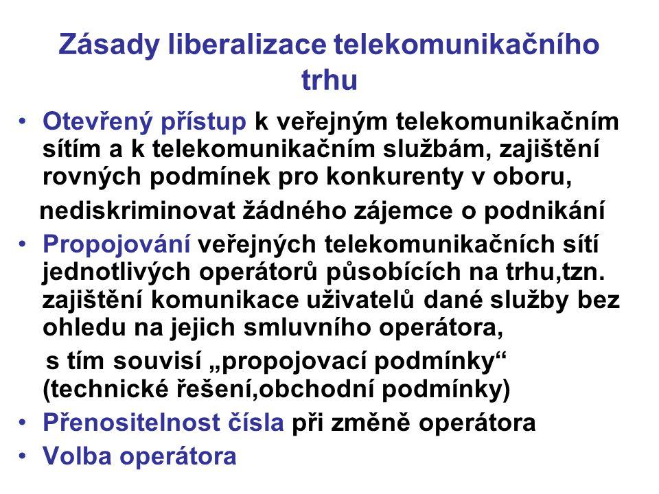 Zásady liberalizace telekomunikačního trhu