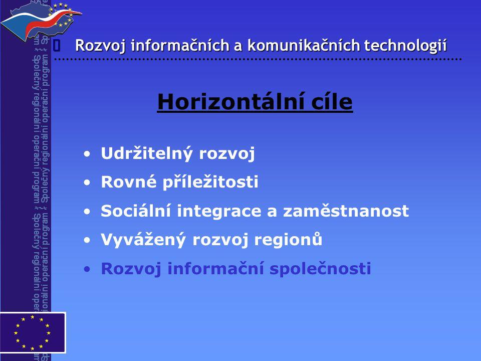 Horizontální cíle î Rozvoj informačních a komunikačních technologií