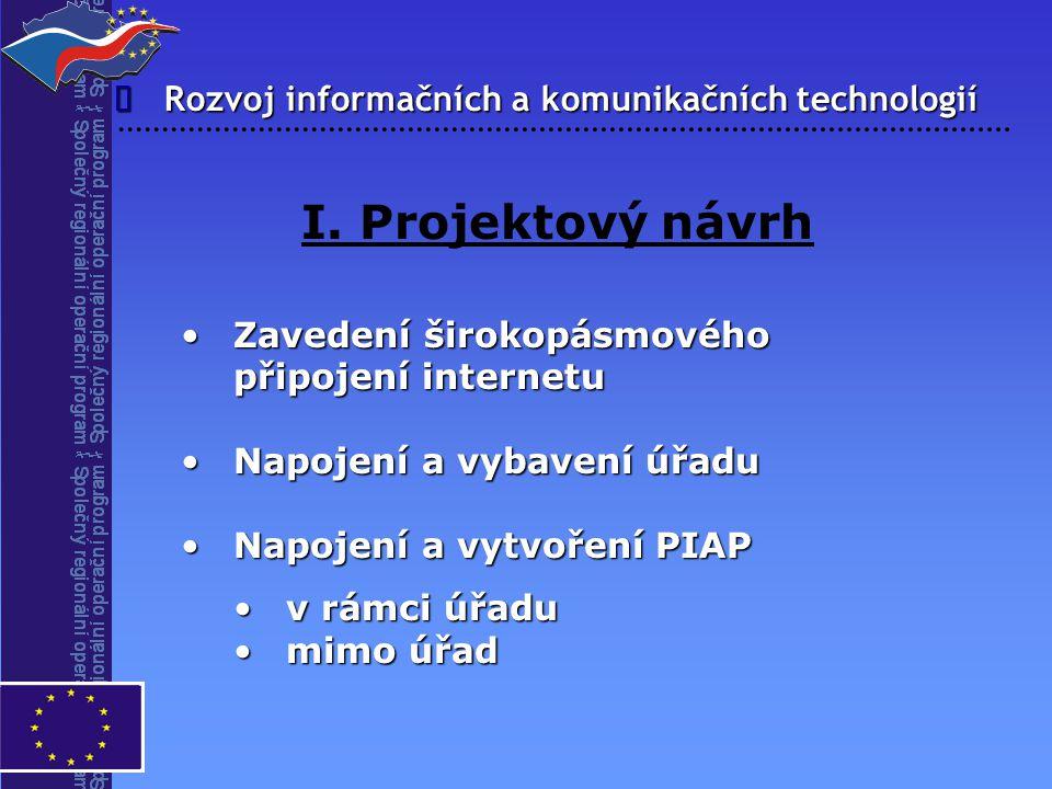 I. Projektový návrh î Rozvoj informačních a komunikačních technologií