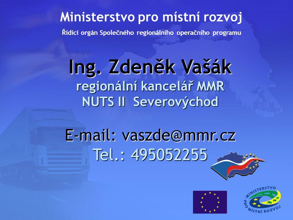 Ing. Zdeněk Vašák regionální kancelář MMR