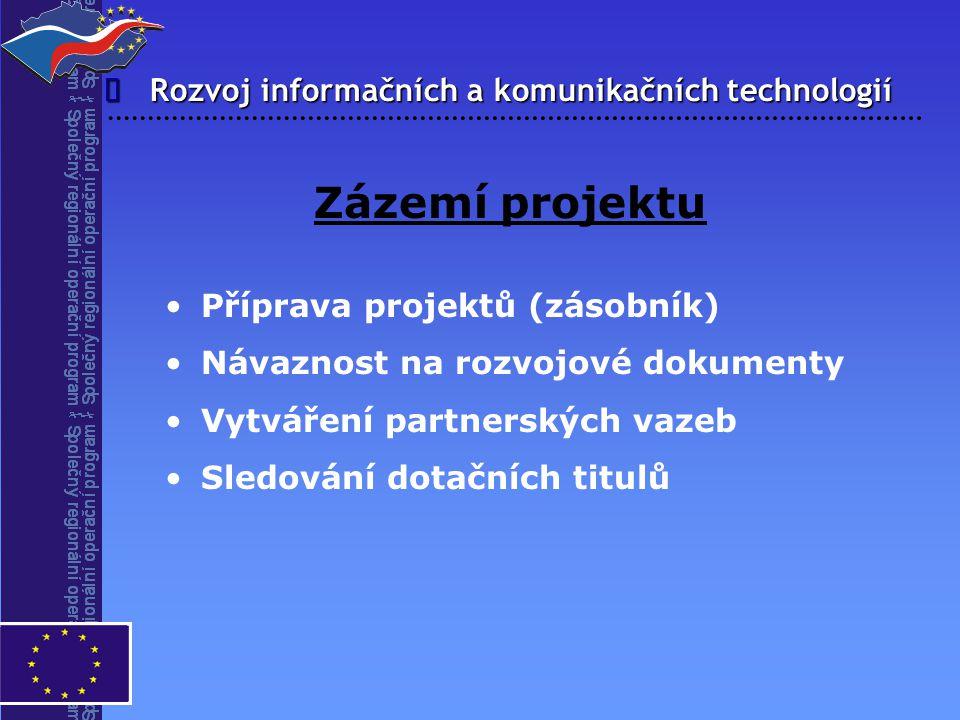 Zázemí projektu î Rozvoj informačních a komunikačních technologií