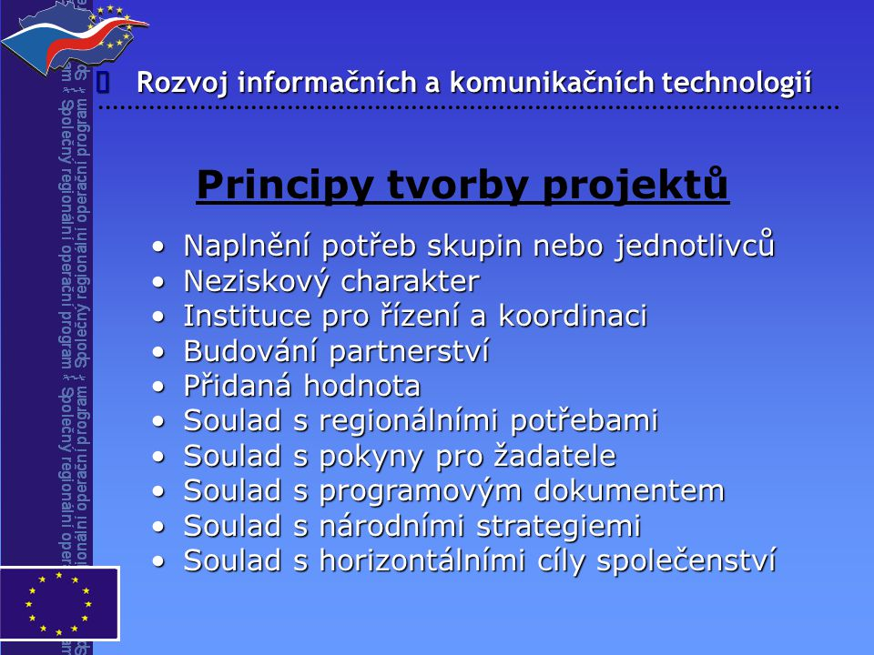 Principy tvorby projektů