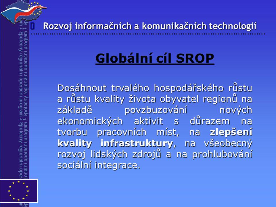 Globální cíl SROP î Rozvoj informačních a komunikačních technologií