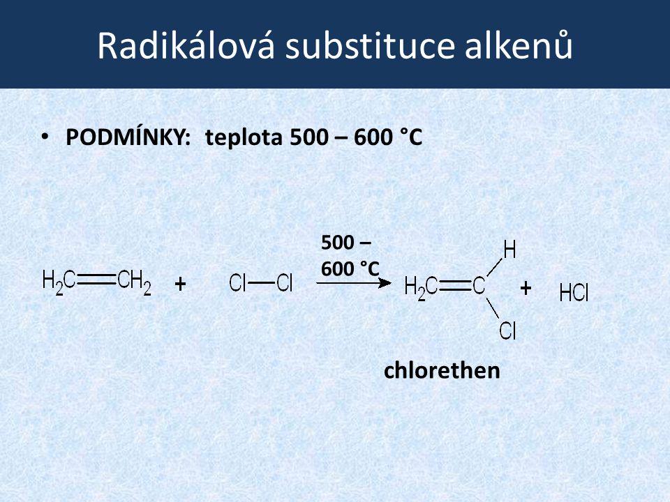 Radikálová substituce alkenů
