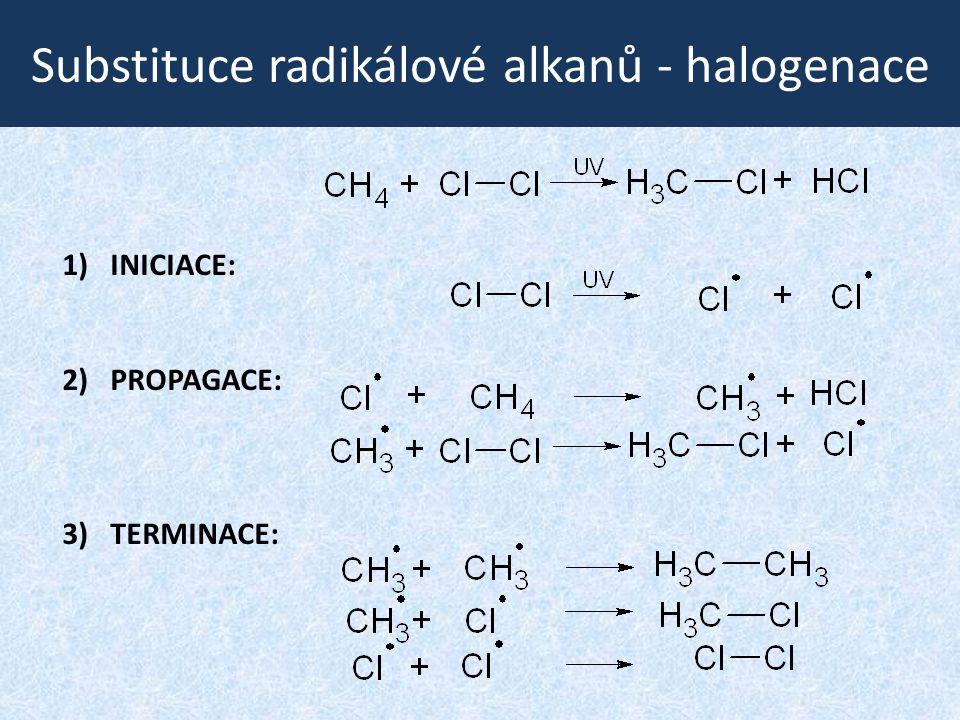 Substituce radikálové alkanů - halogenace