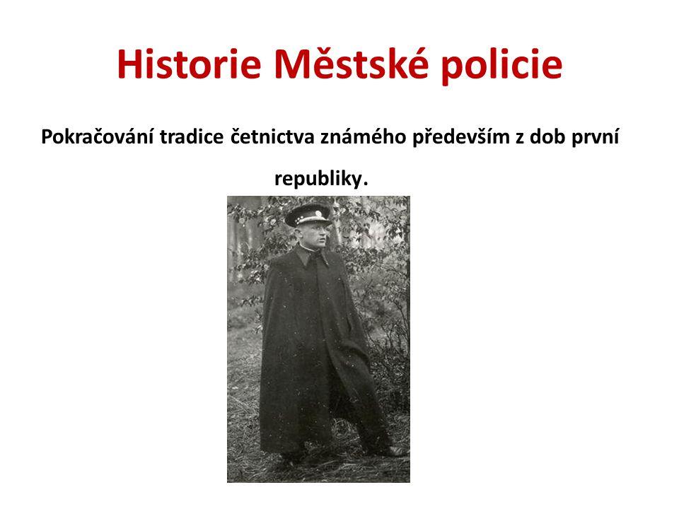 Historie Městské policie