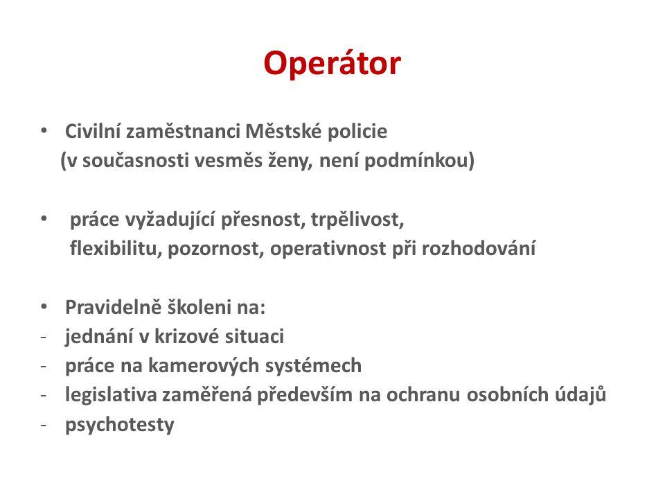 Operátor Civilní zaměstnanci Městské policie