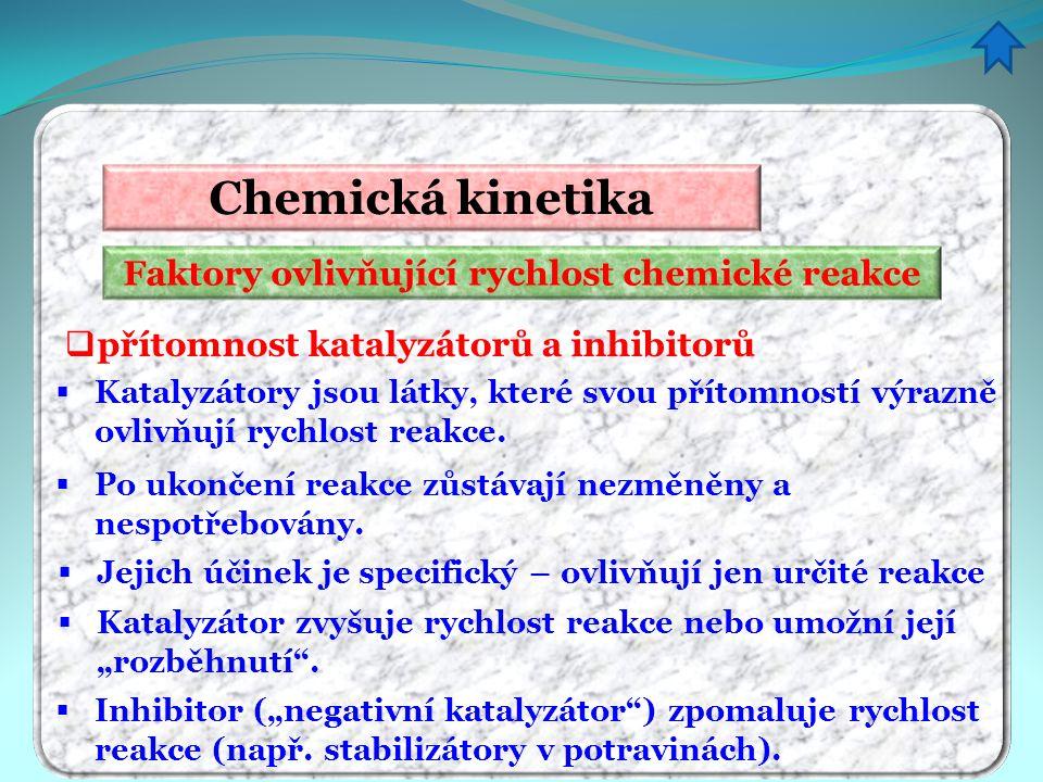 Faktory ovlivňující rychlost chemické reakce