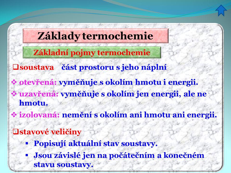 Základní pojmy termochemie
