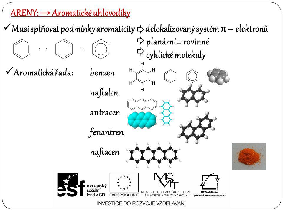 ARENY: → Aromatické uhlovodíky