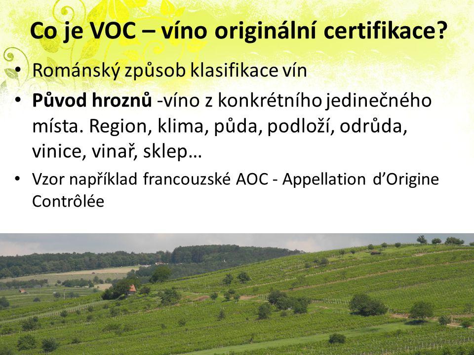 Co je VOC – víno originální certifikace