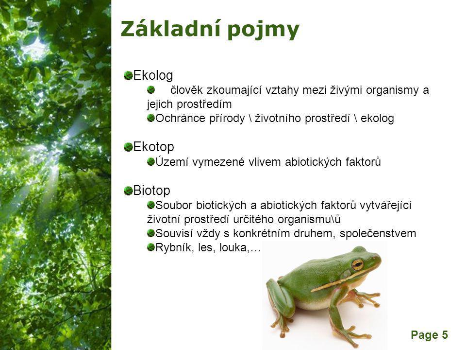 Základní pojmy Ekolog Ekotop Biotop