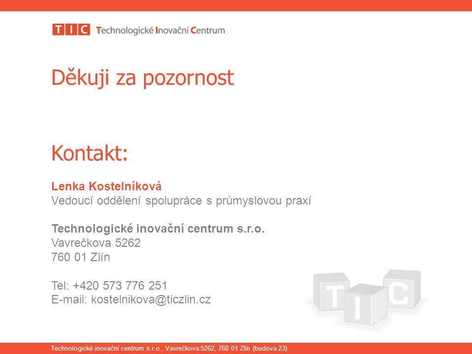 Děkuji za pozornost Kontakt: Lenka Kostelníková