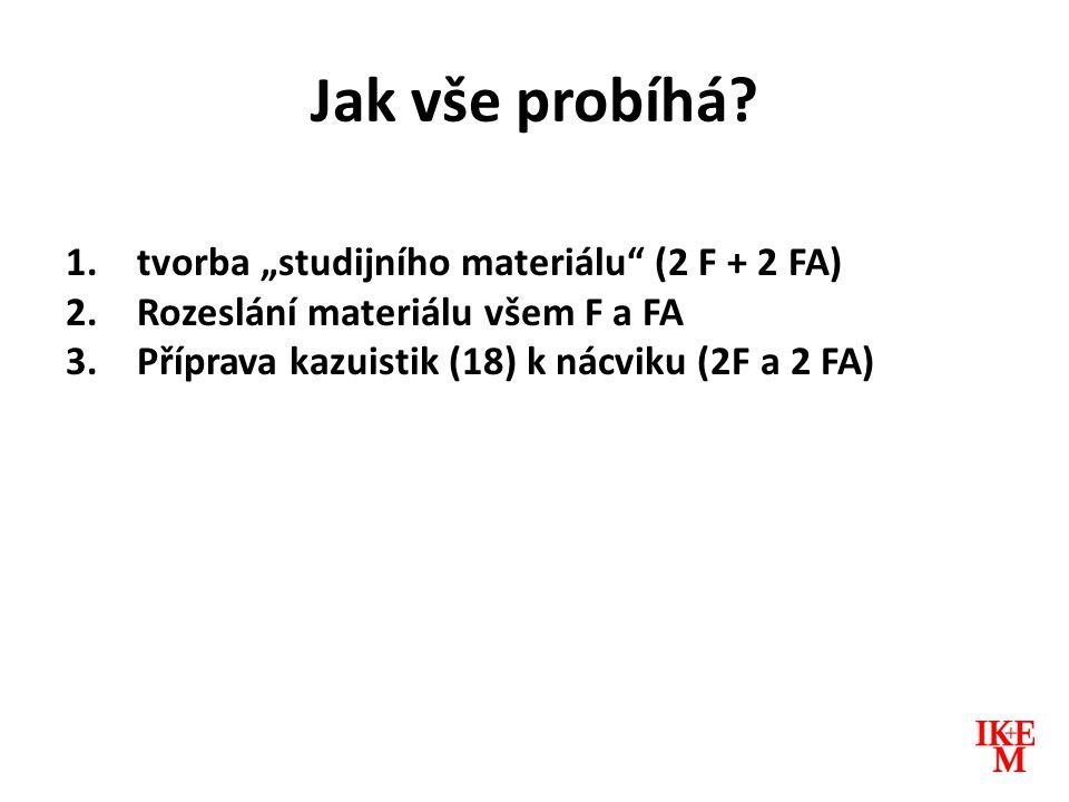 """Jak vše probíhá tvorba """"studijního materiálu (2 F + 2 FA)"""